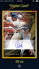 2016 Topps Bunt Gold Label Signature - Juan Gonzalez - (25 cc) - DIGITAL CARD