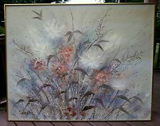 "Lee Reynolds Vanguard studios large size painting ""Wild Flowers"" 60"" by 48"""
