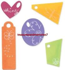 SIZZIX Die TAGS 654778 Heart, Circle, Rectangle, Triangle, Square-ish NEW RARE