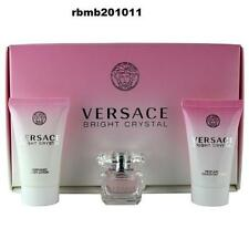 BRIGHT CRYSTAL By Versace 3PC MINI GIFT SET PERFUME + LOTION + S/ GEL NEW IN BOX
