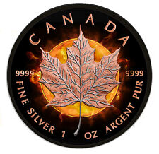 5 $2016 Canada/Canada-Eclipse of the Sun-Maple Leaf