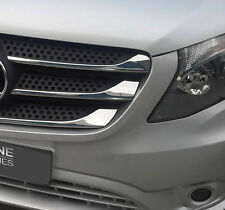 CALANDRE CHROME BORDURE ACCENTS GARNITURES BANDES MERCEDES BENZ VITO W447 2014+