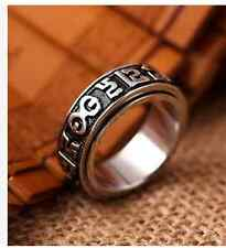 18mm six words mantra ring titanium steel fashion jewelry