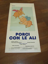 LOCANDINA,Porci con le ali 1977,Paolo Pietrangeli,bianchi
