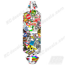 Losi 8ight 2.0 4WD Buggy Chassis Protector Graphics Sticker Bomb Losa0804