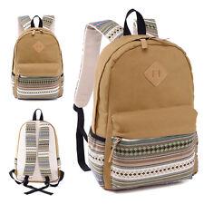 Womens Backpack Canvas Tribal Rucksack Outdoor Satchel School Shoulder Book Bags