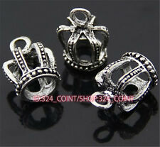 P802 12pc Tibetan Silver crown Charm Beads Pendant accessories wholesale