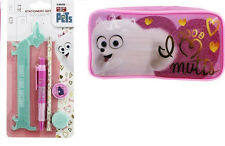 La vie secrète des animaux de compagnie Gidget pencil case + matching stationery set-bnwt!