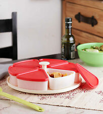 Tupperware Modular Carousel - Pie Wedge Red Lids - Free Shipping