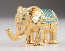 Elephant trinket box by Keren Kopal Austrian Crystal Jewelry box Faberge