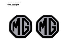 MG ZS ZR MGF LE500 MK1 Compatible Front & Rear Insert Badge 59mm Black/Silver