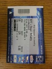 11/08/2012 Ticket: Birmingham City v Royal Antwerp [Friendly] . This item is in
