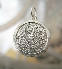 LOOK Mayan Calendar Survive 2012 Sun Charm Sterling silver