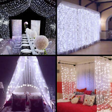 Garden 300LED Icicle Lights String Fairy Light Window Curtain Wedding Party 3M