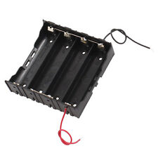 Rectangle In Parallel 2-Wired 4 x 3.7V 18650 Battery Holder Case Black AD