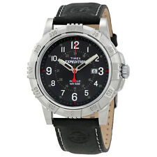 Timex Expedition Black Dial Black Leather Mens Watch T49988