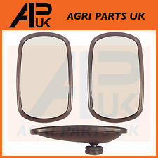 Pair of JCB 3CX Mirror Head Curved  fits many Models Digger Parts Dumper Part