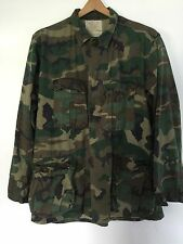 Men's Military Hot Weather Camouflage Pattern Coat Cotton Button Pockets Medium