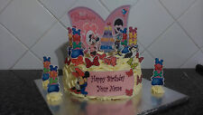 Disney Minnie Mouse Scene **WAFER** Edible Cake Decoration Set Personalised