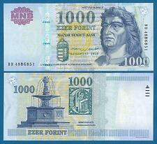 Hungary 1000 Forint P 197 New date 2015 UNC Low Shipping! Combine FREE!
