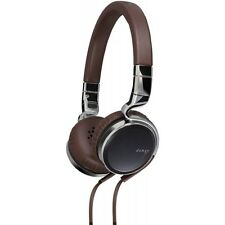 JVC HA-SR75S Esnsy On-Ear Headphones inc Mic Remote - Brown Brand New