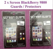 LCD Clear Film Screen Protector Guard For Blackberry BB9800 BRAND NEW   QTY = 2
