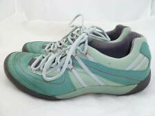 CLARKS USED/NO INSOLES MEN'S UK8-US 8.5 AQUA LEATHER SNEAKERS/COMFORT SHOES