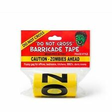Caution Zombies Ahead Yellow Police Barricade Tape Funny Gag Joke Prank Gift