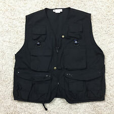 Vintage COLUMBIA PFG Black Fishing Vest Men's Large