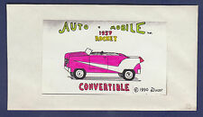 AUTO-MOBILE 1957 ROCKET CONVERTIBLE PAPER MODEL KIT (#33 IN EXPERIMENTAL RUN)