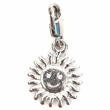 10x 220014 Sun Smile Charms Lobster Clip On Beads Pendants Free Shipping