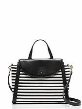 KATE SPADE COBBLE HILL STRIPE ADRIEN LARGE CONVERTIBLE SATCHEL / TOTE MSRP 378