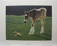 "Glenn OLSON ""Pasture Patrol"" LTD art print Horse mint Certificate COA gopher"
