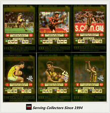 2001 Teamcoach Trading Cards Gold Prize Team Set Hawthorn (6)
