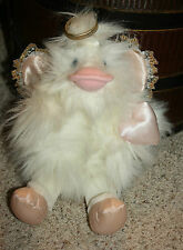 """BIG 15"""" GANZ Plush 1995 Angel Duck HEAVENLY White Ping Wings Halo RARE Easter I1"""