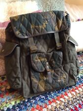 Fred Perry Green Bag / Rucksack / Hold-all / Camouflage / New With Tags