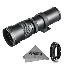 Super 420-800mm f/8.3-16 HD Telephoto Zoom Lens for Canon EOS-M Cameras