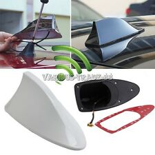 White Universal Car Roof Radio AM/FM Signal Shark Fin Aerial Antenna Replacement