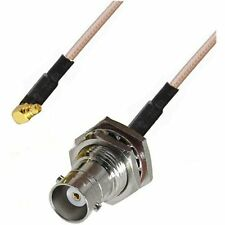 RF pigtail cable BNC female to MMCX male right angle RG316 30CM