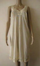 New Vintage Womens Yellow Lingerie Lacy Nightdress Sleepwear Nightie Size 20