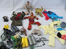 Big Jim Figur Mattel 1971 US Patent  mit viel Kleidung + Zubehör Vintage Camper