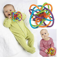 Health Baby Hand Loud Bell Ball rattles Develop Intelligence Plastic Bell Rattle