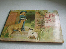 ANTIQUE CHILDS POP UP PANORAMA ANIMAL PICTURE BOOK-  LITTLE PETS- E.P DULTON