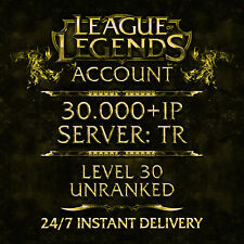 League of Legends compte LOL | turkey | Level 30 | 30.000+ IP | unranked