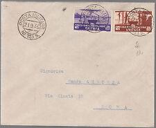 ERITREA 1936 POSTA MILITARE 123S. HARAR C15 + C35 SOGGETTI  AFRICANI A ROMA RARA