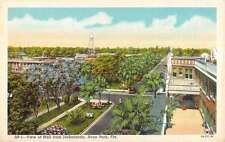 Avon park Florida Jackaranda Mall View Linen Antique Postcard K16372