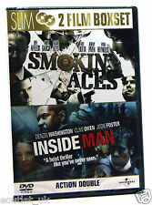 Smokin' Aces & Inside Man DVD Region 2 NEW SEALED 2 Film Boxset