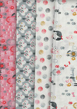 Mori Girls, FQ bundle - 100% cotton quilting fabric - 50 x 55 cms each of 4