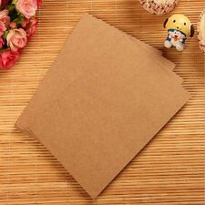 20Sheets Kraft Thick DIY Blank Post Greeting Card Double Side Sketch Doodle #UK