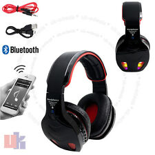 New Black LED Bluetooth Wireless TF MIC Hands-free Headset with Cables UKED